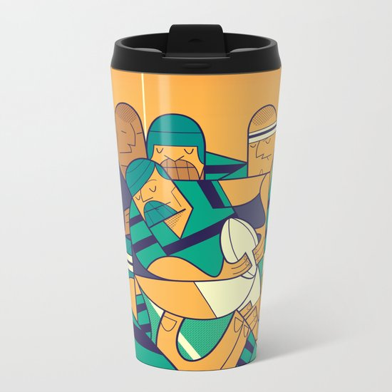 Rugby Metal Travel Mug