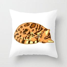 Sleeping Bengal Throw Pillow