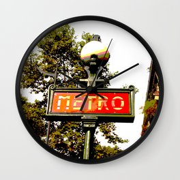 Paris Metro Wall Clock