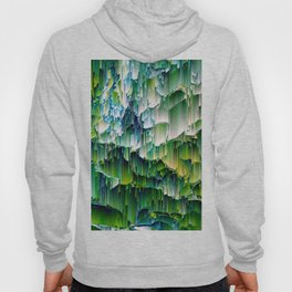 Green Digital Waterfall Design - Texture Pattern Unique Hoody