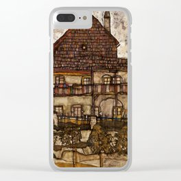 """Egon Schiele """"House with Shingle Roof (Old House II)"""" Clear iPhone Case"""