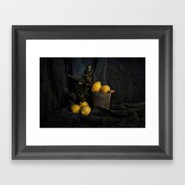 Cassic still life with lemons Framed Art Print