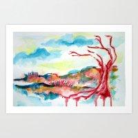 Wasteland. Art Print