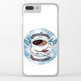 Coffee To The Rescue Clear iPhone Case