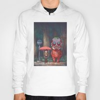 attack on titan Hoodies featuring My Neighbor Titan by Ron Chan