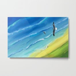 Birds view above sea. Metal Print