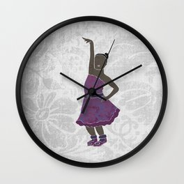 Children dancing 4 Wall Clock