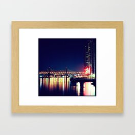 When Light and Dark Collides Framed Art Print