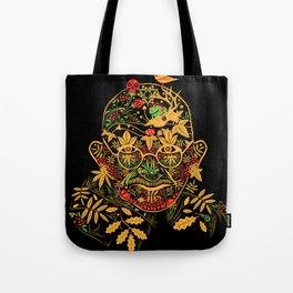 Gandhi Psychedelic Khokhloma Tote Bag
