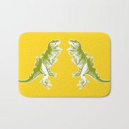 Dino Pop Art - T-Rex - Yellow & Olive Bath Mat