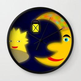 Good old moon .. Wall Clock