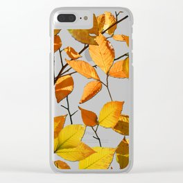 Autumn Leaves Azure Sky Clear iPhone Case