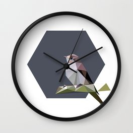 Spotted flycatcher Wall Clock