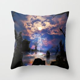 Ghost Pink Throw Pillow
