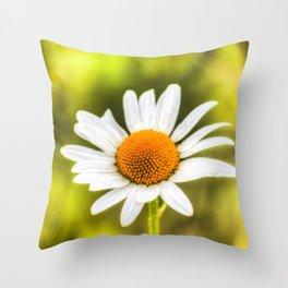 The Single Daisy Throw Pillow