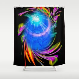 Zodiac sign Pisces - Happy Birthday Shower Curtain