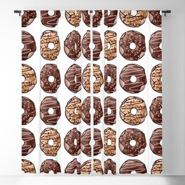 Chocolate Donuts Pattern Blackout Curtain
