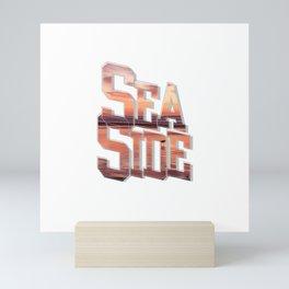 Sea Side Seaside Mini Art Print