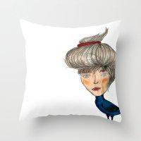 siren Throw Pillows featuring Siren by KokoOn