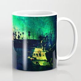 Boat At Oceanside: Night Turns To Day Coffee Mug