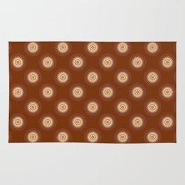 Mandala in brown,  peach and skin tones Rug