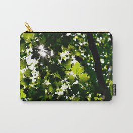 Green Maple Leaf PattrnTree Leaves Parallax Sunshine Shows Leaves Green Color Carry-All Pouch
