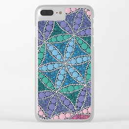 Colorful Dot Art Mandala Flower Of Life Clear iPhone Case
