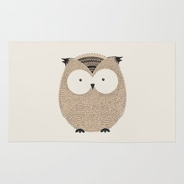 Owl Cute Woodland Animals Rug