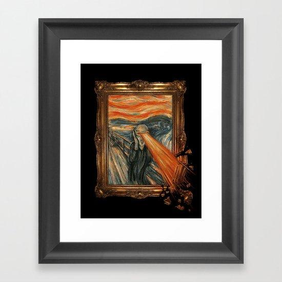 Art Attack Framed Art Print