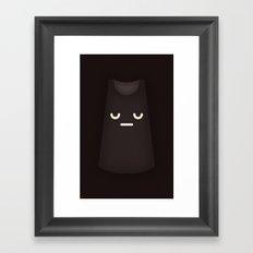 Sad Dress Framed Art Print
