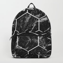 Black Campari marble - hexagons Backpack