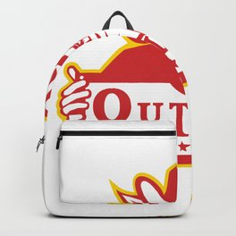 Outlaw Holding Sign Retro Backpack