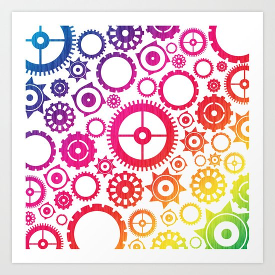Color Cogs. Art Print