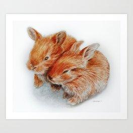 Every bunny needs some bunny Art Print