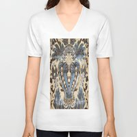 rug V-neck T-shirts featuring Textile rug by ~~a~~k~~a~~