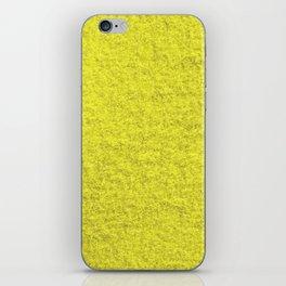 Yellow Fleecy Material Texture iPhone Skin