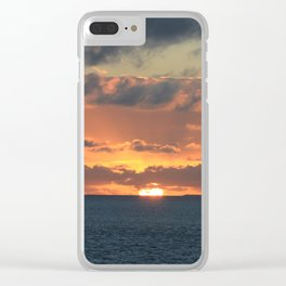 Heavenly Sunset Clear iPhone Case