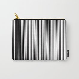 Simply small black and white handrawn stripes-vertical-Mix&Match with Simplicty of life Carry-All Pouch
