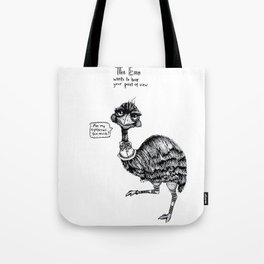 E is for Emu Tote Bag