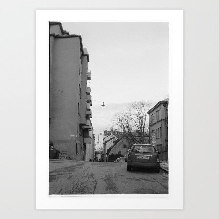 Streets in Stockholm Art Print