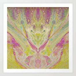 Lavender fields - Paint pour Art Print