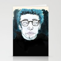 james franco Stationery Cards featuring James is King by Rebecca Span