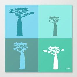 Baobab Azure Canvas Print