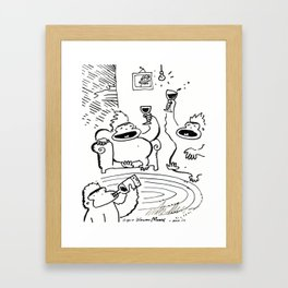 Apes Well into the Wine-Tasting Framed Art Print