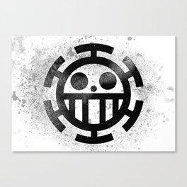 One Piece Trafalgar Law logo Canvas Print