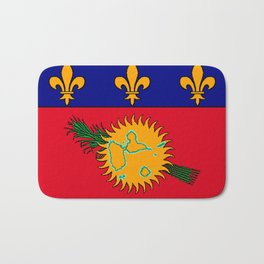 Guadeloupe Flag with Map of Guadeloupe Bath Mat