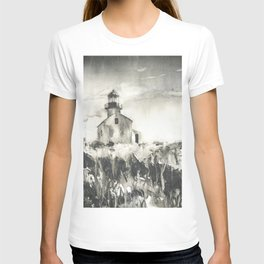 Old Point Loma Lighthouse in th Cabrillo National Monument- San Diego, CA.  California lighthouse T-shirt