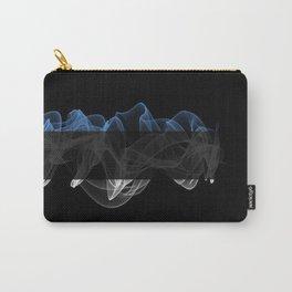 Estonia Smoke Flag on Black Background, Estonia flag Carry-All Pouch