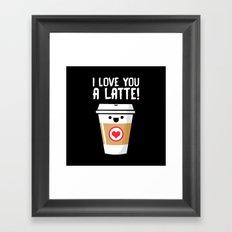 Latte Love Framed Art Print