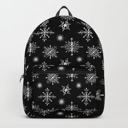 Winter in black and white - Snowflakes pattern Backpack